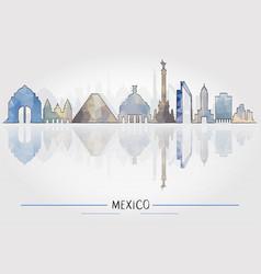 tourism concept mexico architecture vector image vector image