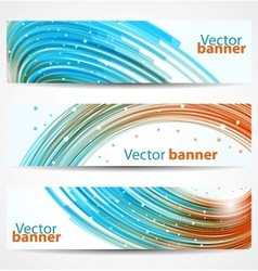 Abstract banners or headers vector image vector image