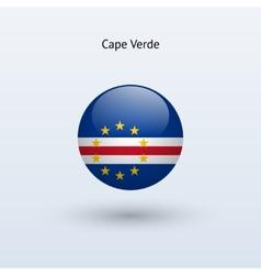 Cape verde round flag vector