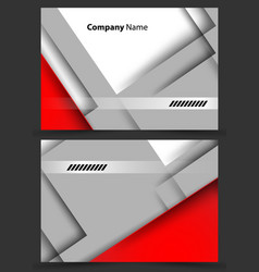 corporate cards templates vector image
