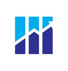 graph arrow finance logo vector image vector image