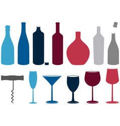 liquor bottles vector image vector image