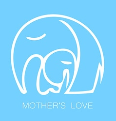mom love logo vector image vector image