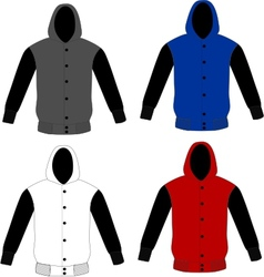 sweater hoodie template vector image vector image