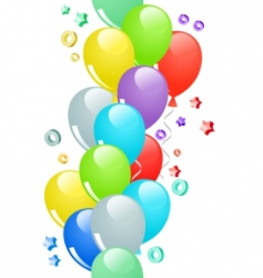 border with balloons vector image