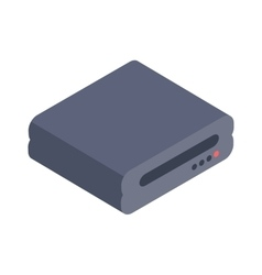 Computer Drive isometric icon vector image vector image