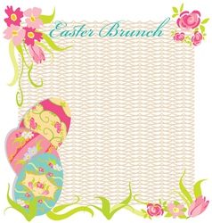 easter brunch invitation party vector image vector image