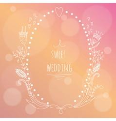 Hand drawn wedding invitation vector image vector image