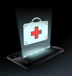 Icon medical bag vector