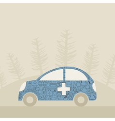 Medical car vector image vector image