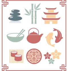 oriental zen design elements vector image vector image