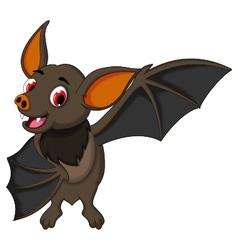 smiling bat cartoon posing vector image vector image