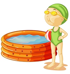A young swimmer vector image vector image
