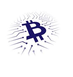 bitcoin blockchain symbols vector image vector image