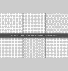 collection of seamless simple geometric patterns vector image