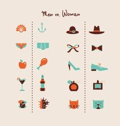 man and woman symbols vector image vector image