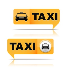 Taxi banners vector