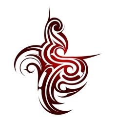 Tribal tattoo shape vector image vector image
