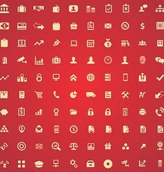 100 bank icons vector image