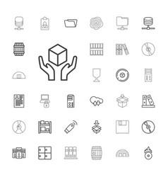33 storage icons vector