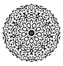 Abstract isolated mandala ornament vector