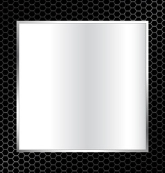 abstract metal texture background with square vector image