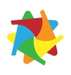 Abstract shape icon cartoon style vector