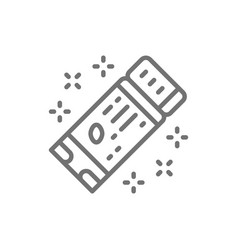 American football ticket line icon vector
