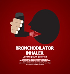 Asthma Patient Using Bronchodilator Inhaler vector
