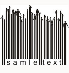 Bar code people vector