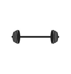 barbell icon design template isolated vector image
