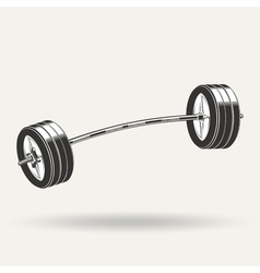 Barbell5 vector image