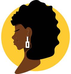 Beautiful african womans face vector