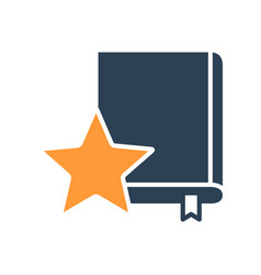 Book rating literature review colored icon best vector