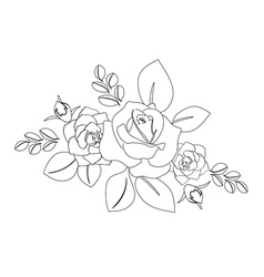 Bouquet of roses - silhouette vector
