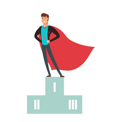 business competition winner super hero man vector image