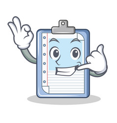 Call me clipboard character cartoon style vector
