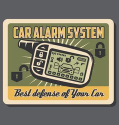 Car alarm systems installation service poster vector