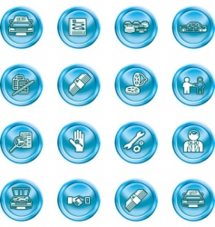car dealer icons vector image