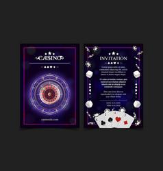 casino background style ace vip invitation poker vector image