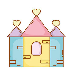 Castle lovely cartoon vector