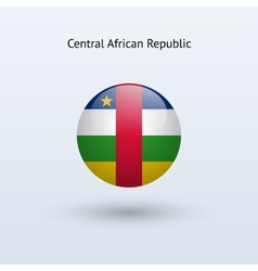 Central African Republic round flag vector