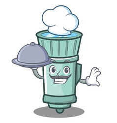 Chef flashlight cartoon character style vector