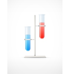 Chemical laboratory glassware vector