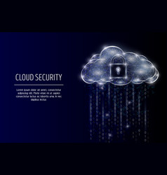 Cloud security geometric polygonal art vector