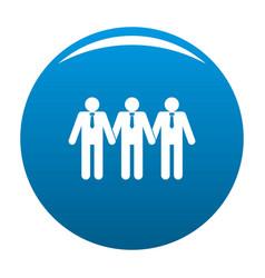 community icon blue vector image