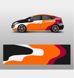 company branding car decal wrap design graphic vector image