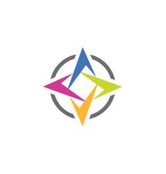 Compass logo symbol icon element design vector