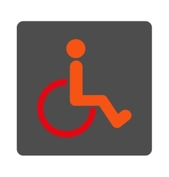 Disabled Person Rounded Square Button vector image