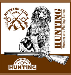 dog and gun - duck hunt vector image
